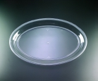 14 X  21 CLEAR OVAL PLATTER 20/1CT=20CT