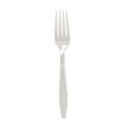 FORKS 10/100CT EXTRA HEAVY CUTLERY CLEAR