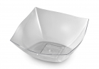 16 OZ CLEAR PLASTC SQUARE SERVING BOWL 4CT