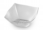 8 OZ CLEAR PLASTIC SQUARE SERVING BOWL 4 CT